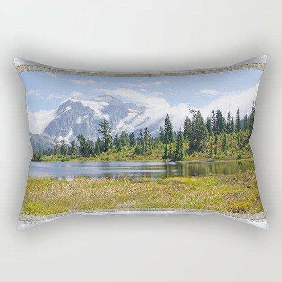 MOUNT SHUKSAN ONE AUGUST DAY Rectangular Pillow