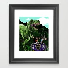 Em's Dino Adventure Framed Art Print
