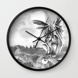 Gargoyle Night Wall Clock