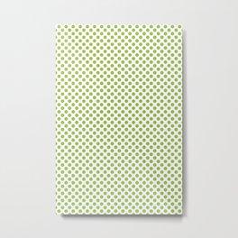 Kiwi Fruit Pattern Green Metal Print