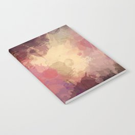 Modern Contemporary Ultra Violet Glow Abstract Notebook