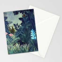 The Equatorial Jungle with Lions by Henry Rousseau Stationery Cards