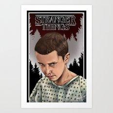 Eleven Stranger Things Art Print