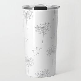 Dandelions in Grey Travel Mug