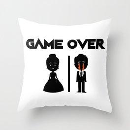 Game Over Groomsmen - Groom Funny Throw Pillow