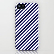 Classic Stripes in Navy + White iPhone (5, 5s) Slim Case