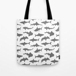 Grey Sharks Tote Bag