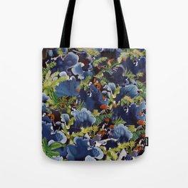 Lichens in blue Tote Bag