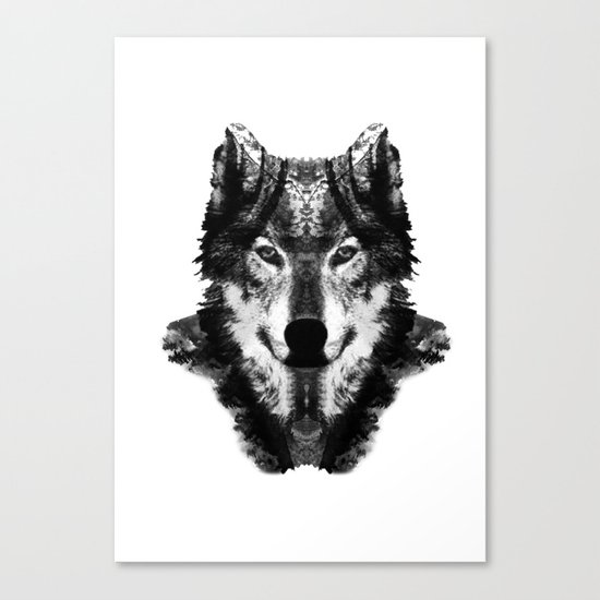 The Black Forest Wolf Canvas Print