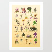 xbox Art Prints featuring Xbox A-Z by Sam Moore