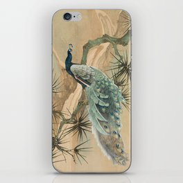 Peacock In The Pines iPhone Skin