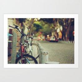 The street is quiet Art Print