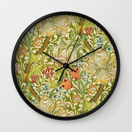 William Morris Golden Lily Vintage Pre-Raphaelite Floral Art Wall Clock