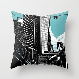 Lev TLV Aqua Throw Pillow