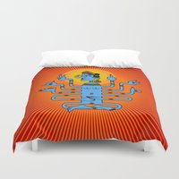 goddess Duvet Covers featuring Goddess by magopaco
