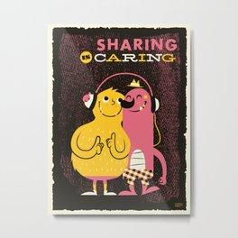 Sharing Metal Print