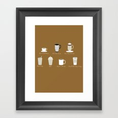 Weekly Dose of Coffee Framed Art Print