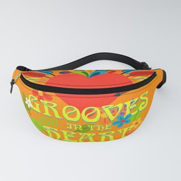 Grooves in the heart Fanny Pack