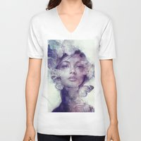 doll V-neck T-shirts featuring Adorn by Anna Dittmann