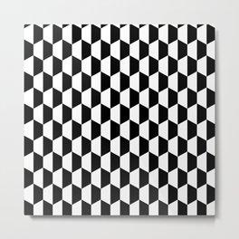 Black and white hexagons Metal Print