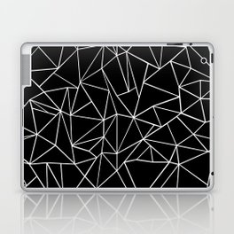 Abstraction Outline Black and White Laptop & iPad Skin