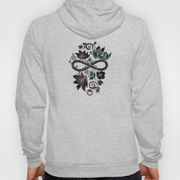 Infinity Moon Garden in Pastel at Midnight Hoody