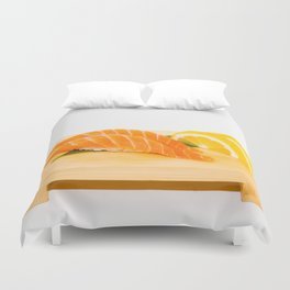Salmon Sushi Duvet Cover