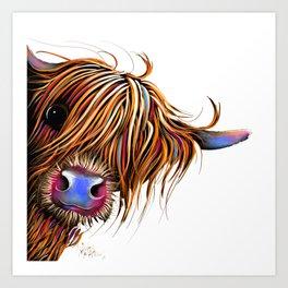 HiGHLaND CoW PRiNT SCoTTiSH ' SuGaR LuMP ' BY SHiRLeY MacARTHuR Art Print