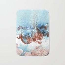 Copper Blue Abstract Sky Bath Mat