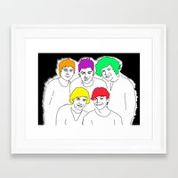 1d Framed Art Prints featuring 1D punked by Rebecca Bear
