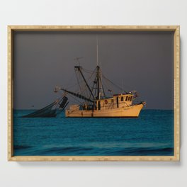 Tucker J fishing boat Serving Tray