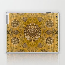 Bohemian Gold Lace Print Laptop & iPad Skin