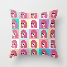 Heart-Shaped Glasses Throw Pillow