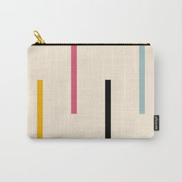 Abstract Minimal Retro Stripes Acro Carry-All Pouch