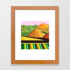 Valle de Guadelupe Farms Framed Art Print