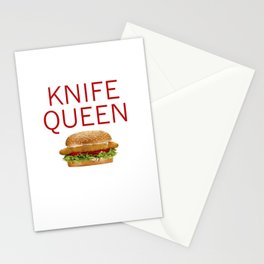 KNIFE QUEEN Stationery Cards