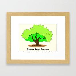 Oak Tree Flag Framed Art Print