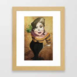 Lady Death's Looking at You Framed Art Print