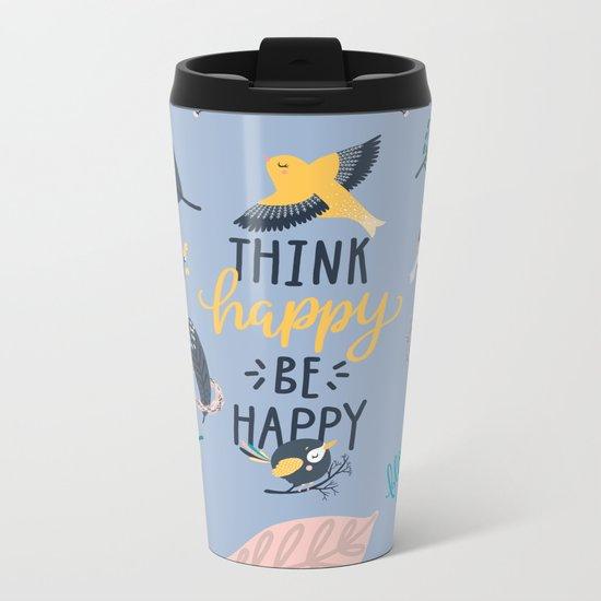 Happy birds Metal Travel Mug