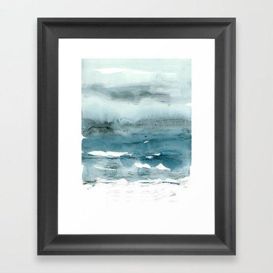 dissolving blues Framed Art Print