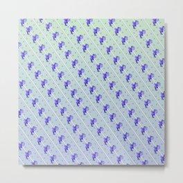Stripes and Violets Metal Print