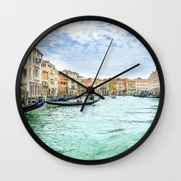 Italy Photography - Beautiful Turquoise Canal Wall Clock