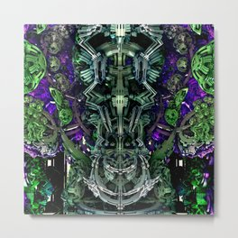 Exoskeleton Green Metal Print
