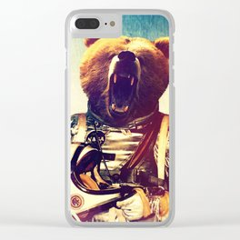 astro bear Clear iPhone Case