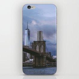 Moody views of the Brooklyn Bridge iPhone Skin