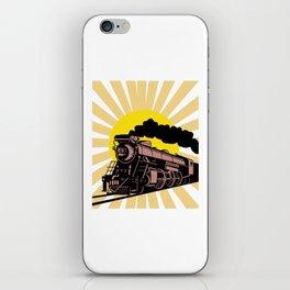 Retro Vintage Train Steam Engine Locomotive Gift iPhone Skin