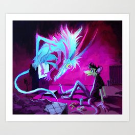 Video Demon Art Print