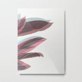 Ghost Leaves Metal Print