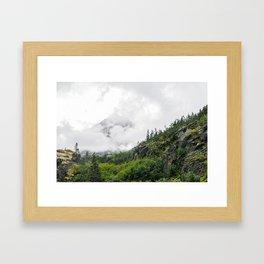 White Pass Summit Mountains Framed Art Print