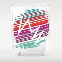 jazz Shower Curtains featuring JAZZ by Terminal Opacity